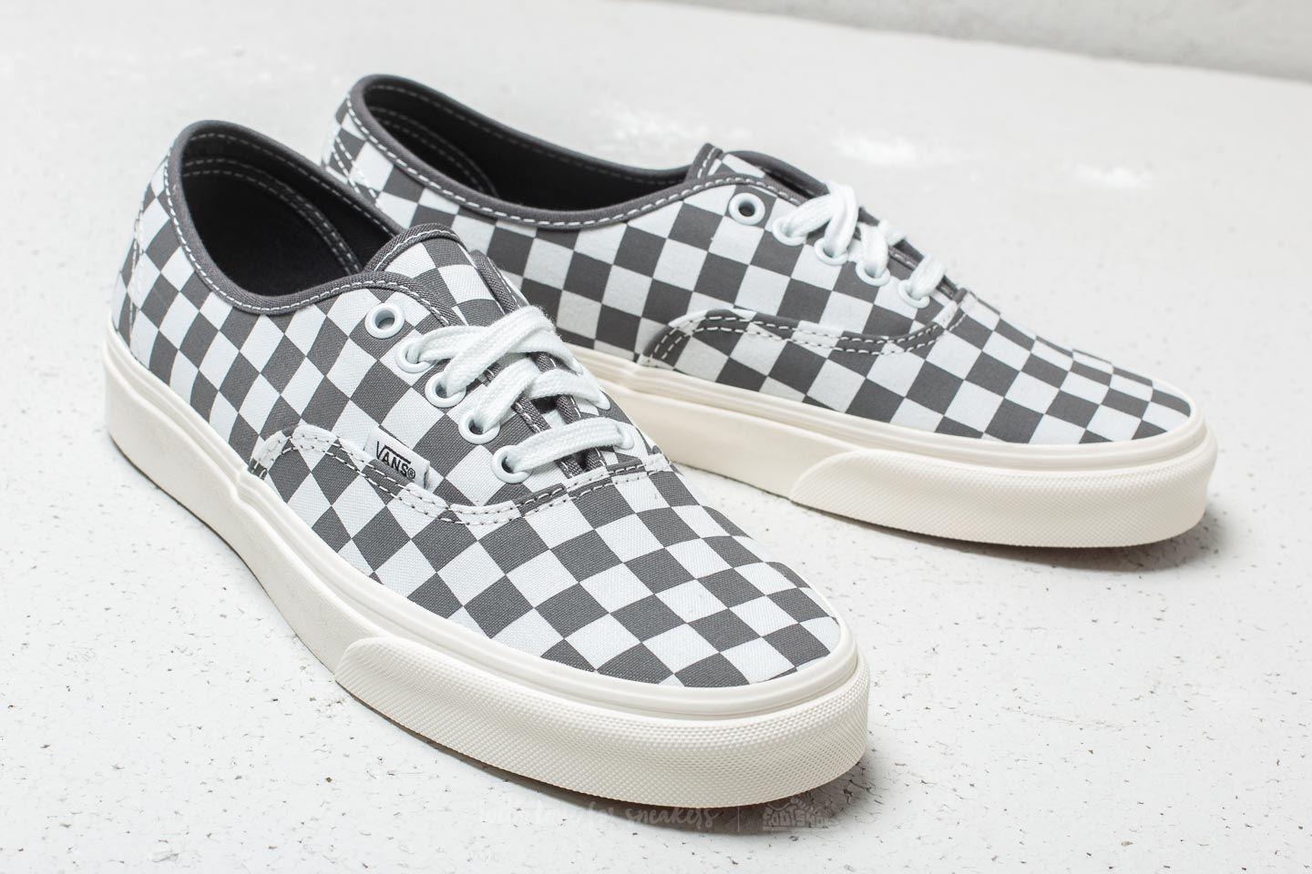 Vans Trainers Mens Pewter Marshmellow Checkerboard
