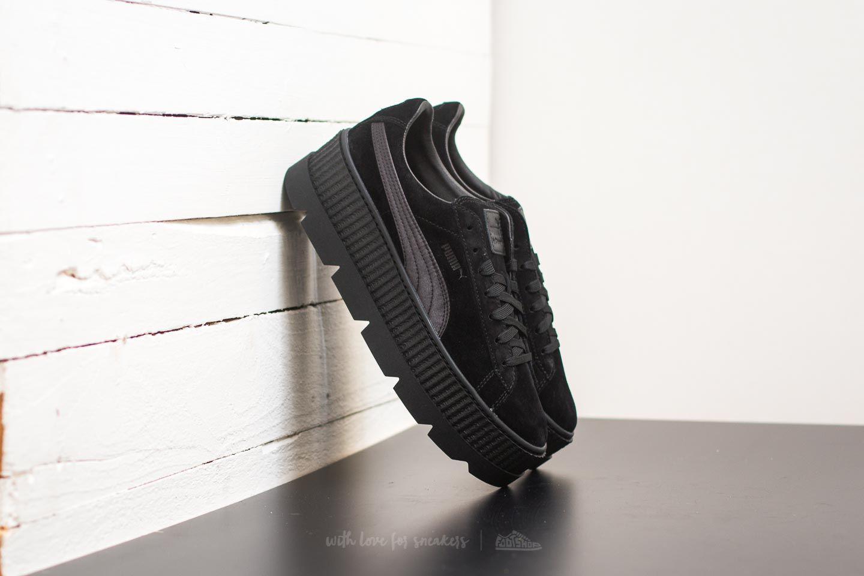 uk availability 477ac 933ac Footshop Puma Fenty Cleated Creeper Suede Puma Black for men