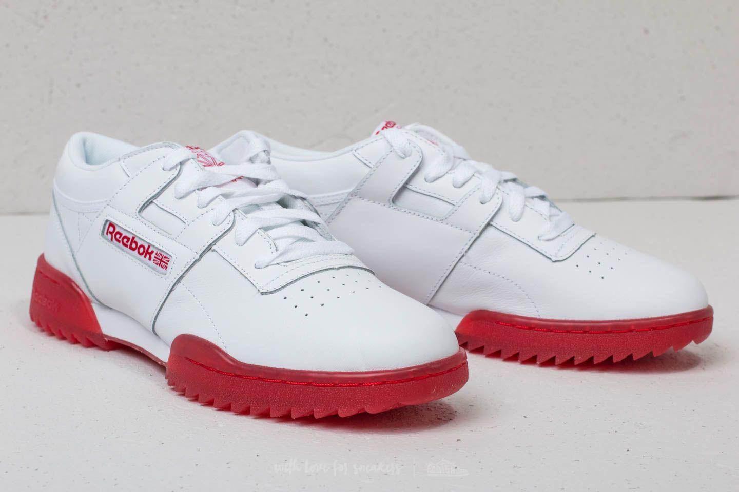 3a359d2641d Lyst - Reebok Reebok Workout Clean Ripple Ice White  Primal Red-ice ...