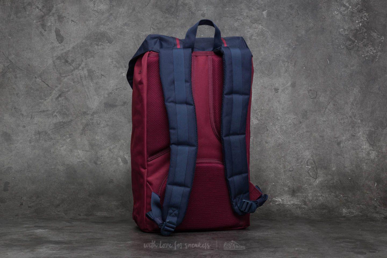 3bfe42ca5a6 Lyst - Herschel Supply Co. Little America Backpack Windsor Wine ...