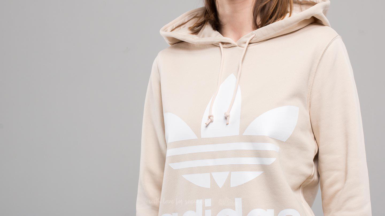 7fd30b5da0dd Lyst - Adidas Originals Adidas Trefoil Hoodie Linen in Natural