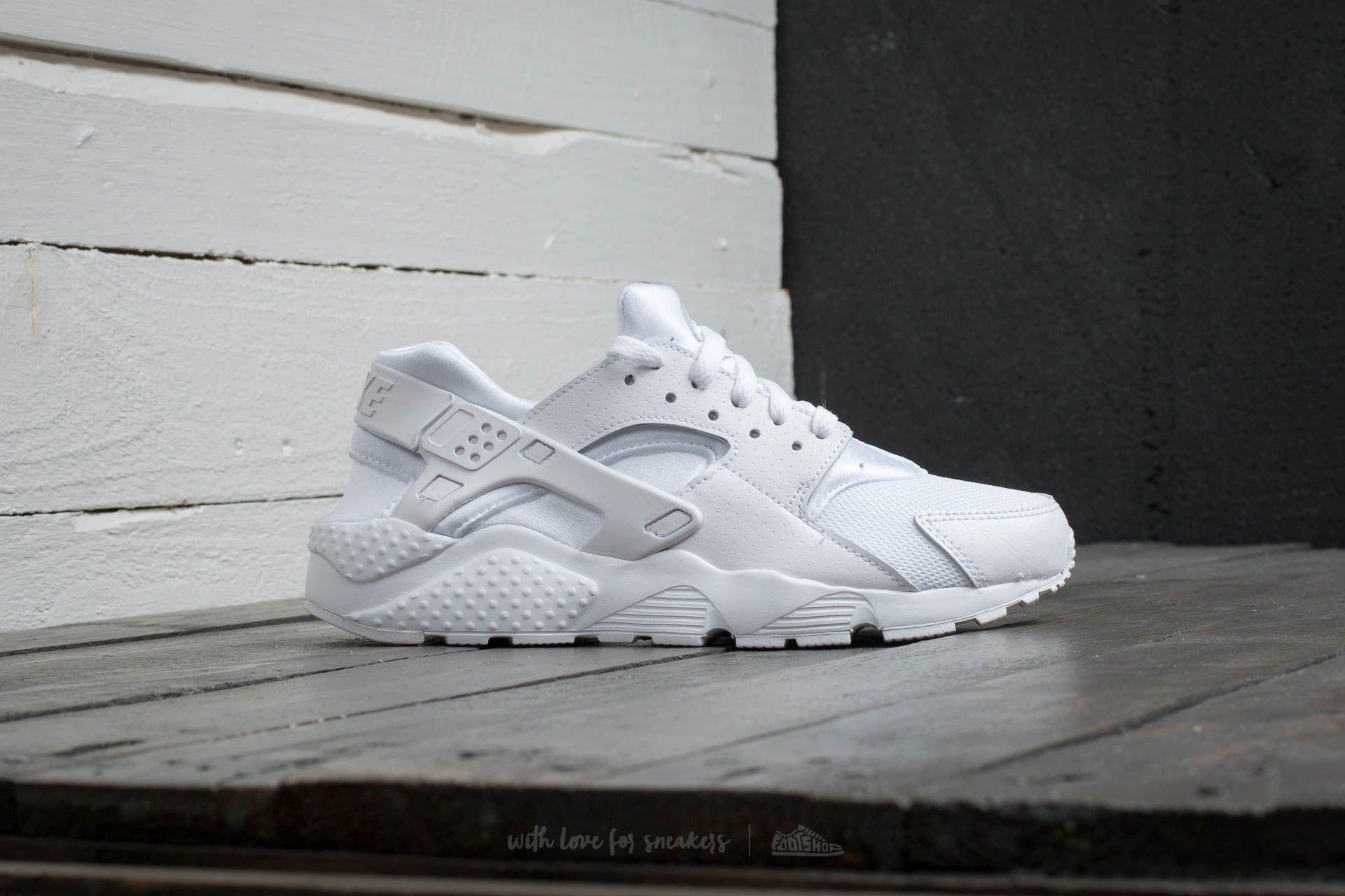 nike huarache run gs white white pure platinum Remise