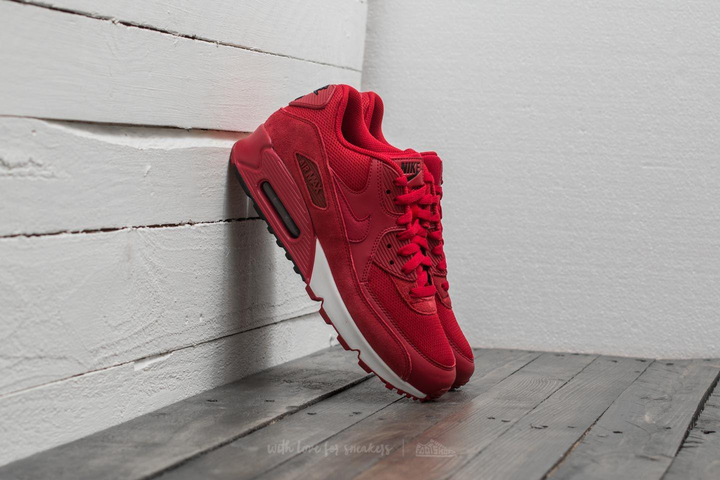 9cc3d2b3c5 Nike Air Max 90 Essential Gym Red/ Gym Red-black-white in Red for ...