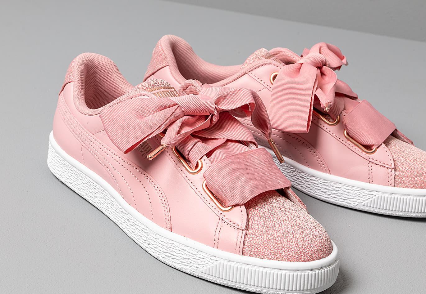 puma basket heart rosa