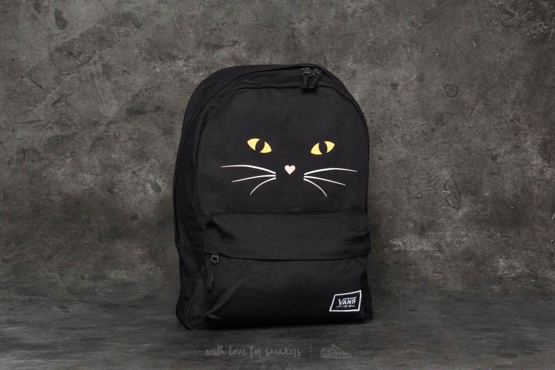 0161c9ad7ea1ff Lyst - Vans Realm Classic Backpack Black Cat in Black