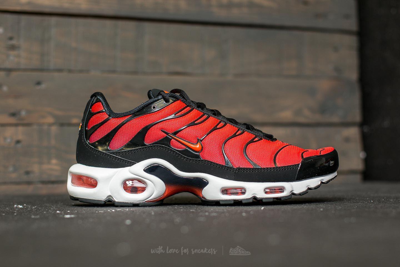 quality design e9332 0c760 Men's Air Max Plus Black/ Team Orange-team Red