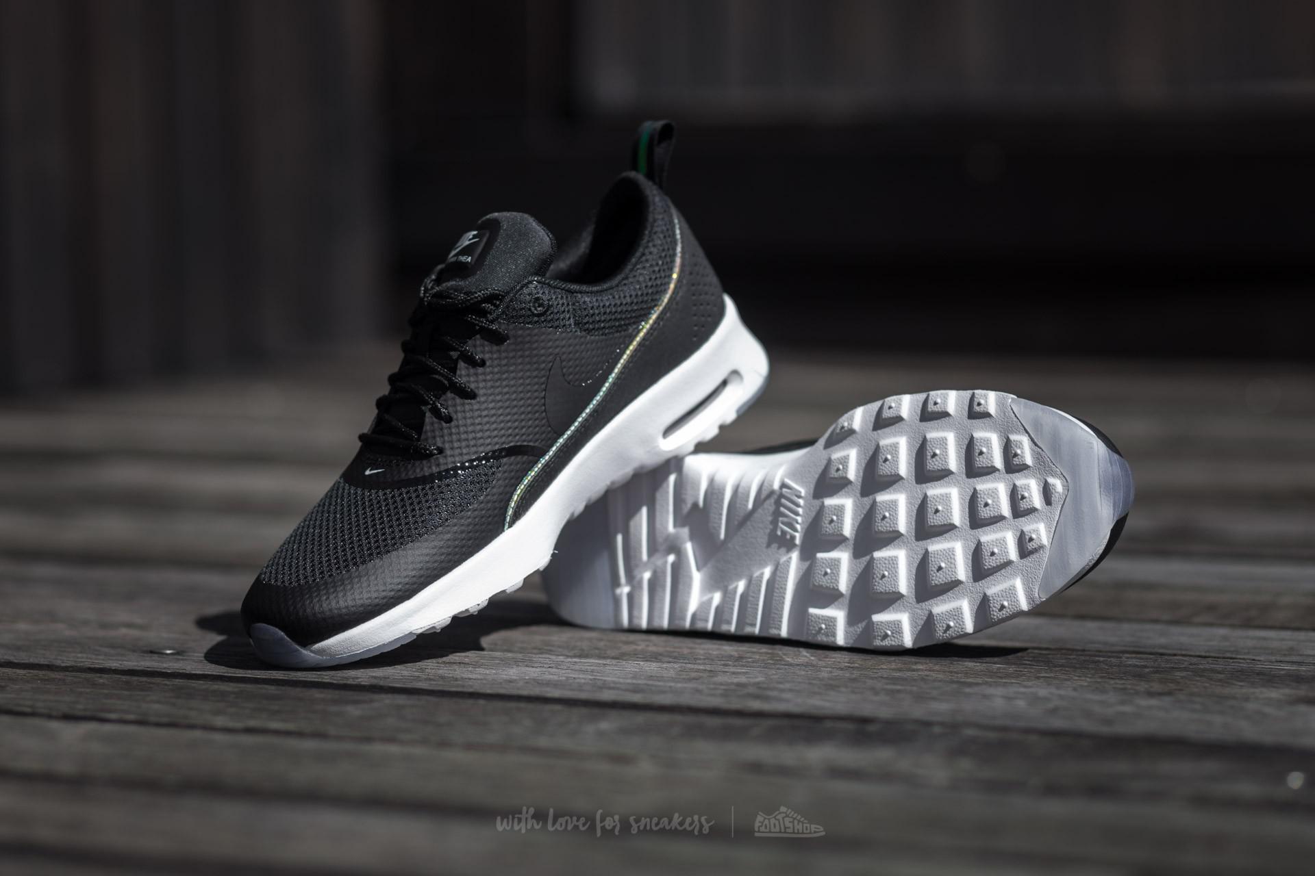 Nike Wmns Air Max Thea Premium Black Black Blue Tint