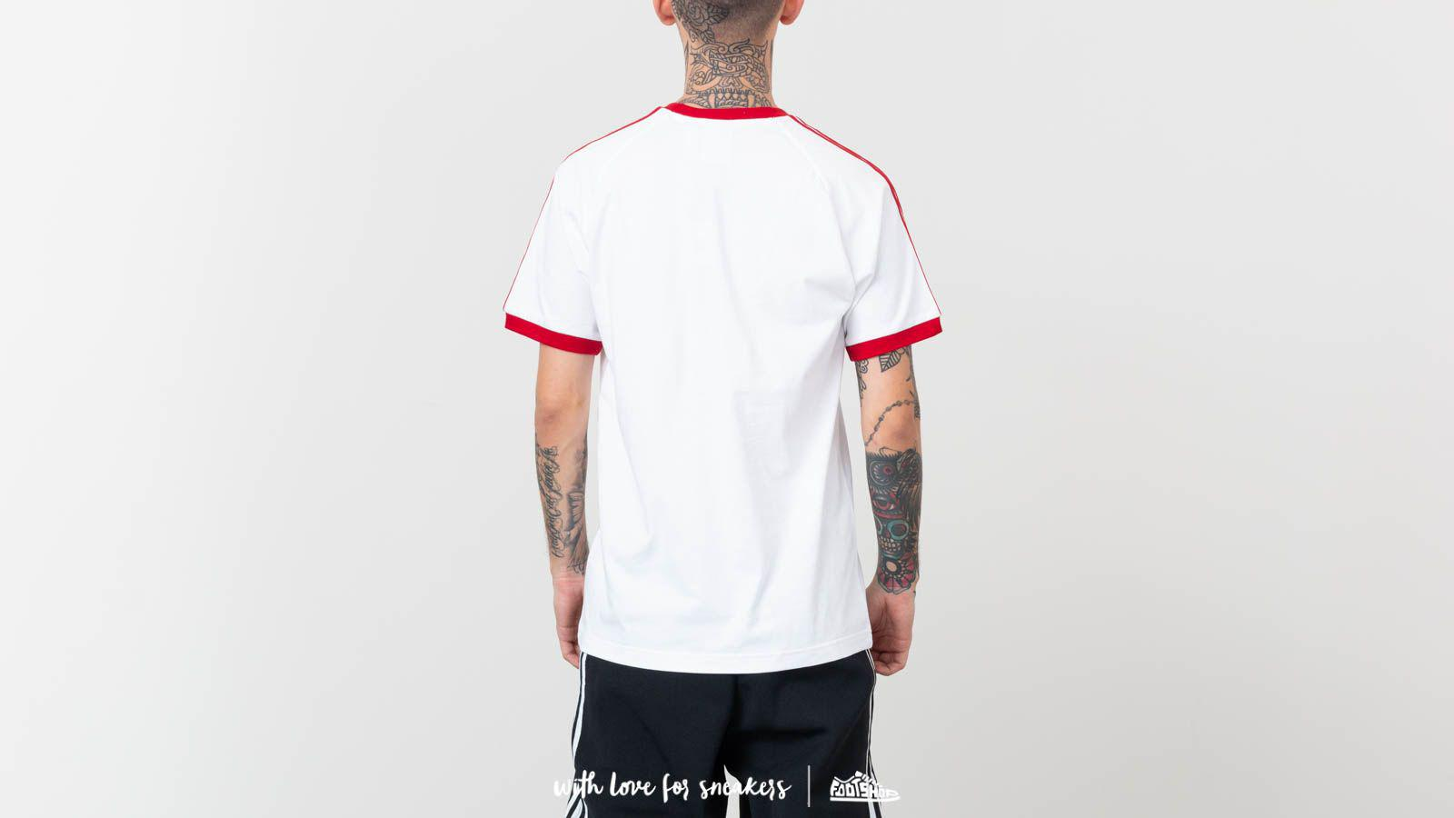 3-stripes Tee White/ Power Red