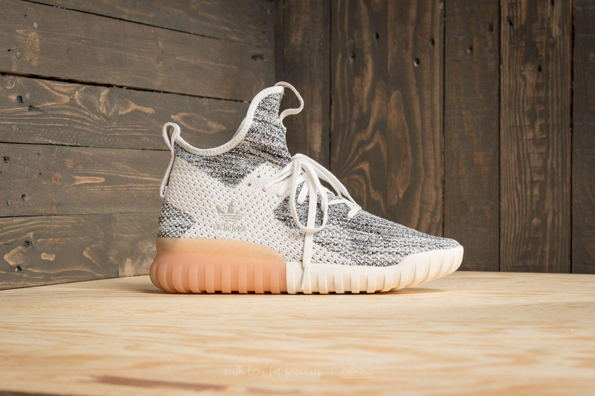 new concept 9f3f8 5c697 Adidas Originals Gray Adidas Tubular X Primeknit Crystal White/ Grey One/  Core Black for men