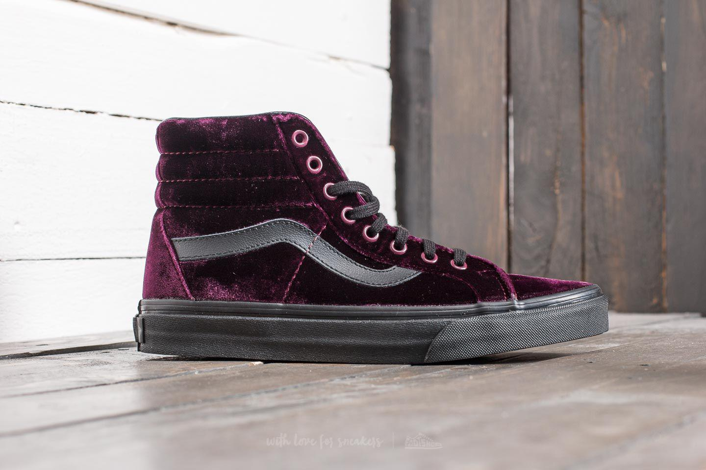 54d04f3287 Lyst - Vans Sk8-hi Reissue (velvet) Red  Black for Men