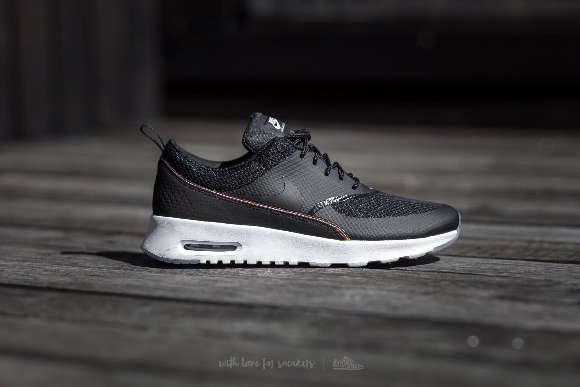 ae9c595eca Nike Wmns Air Max Thea Premium Black/ Black-blue Tint in Black - Lyst
