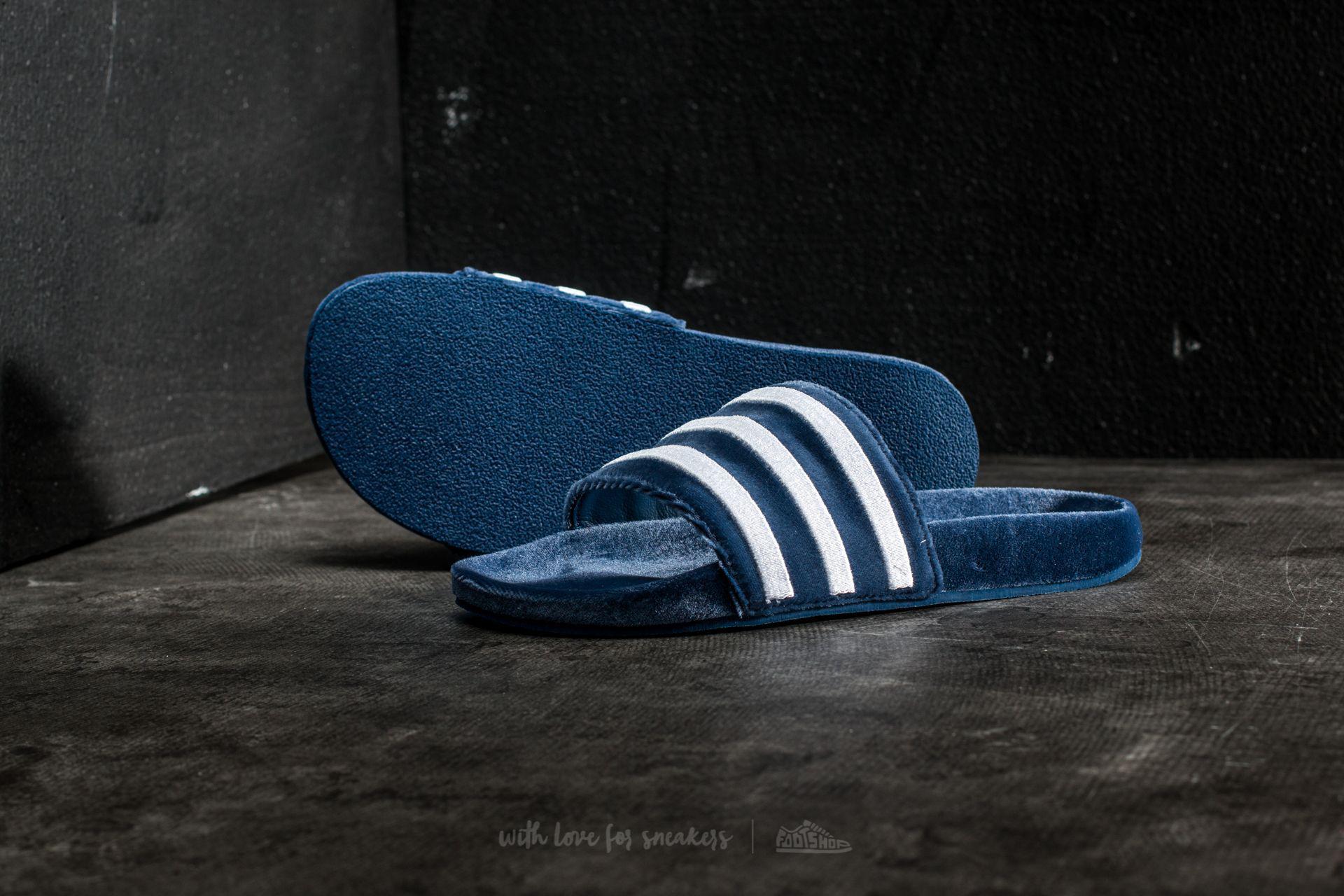 23b56838 Adidas Originals Adidas Adilette Mystery Blue/ Footwear White/ Footwear  White for men