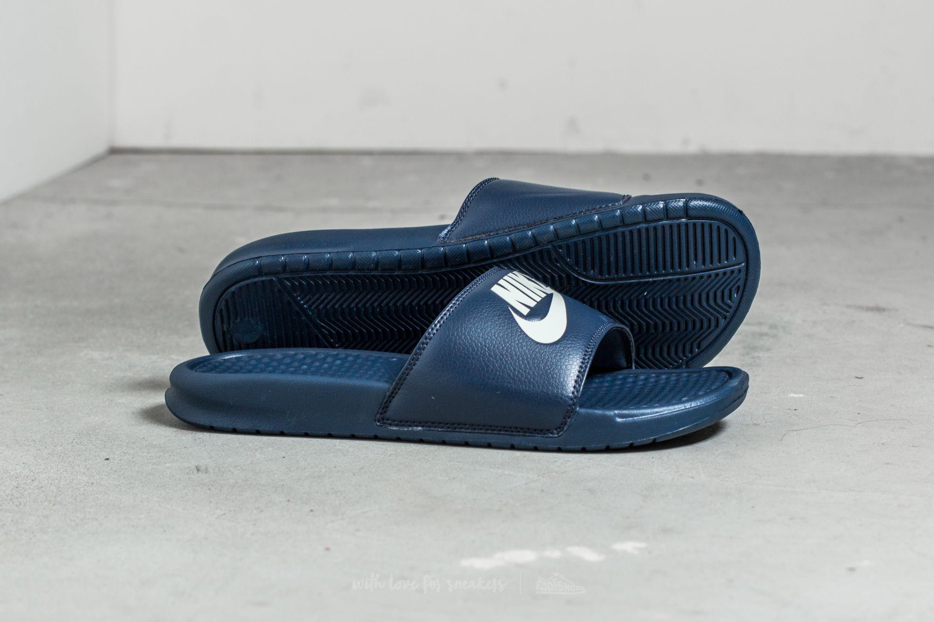 1fcf24bd442421 Lyst - Nike Benassi Jdi Midnight Navy  Windchill in Blue for Men