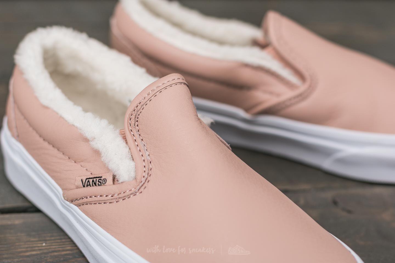 Classic Slip-on (leather) Mahogany Rose/ True White