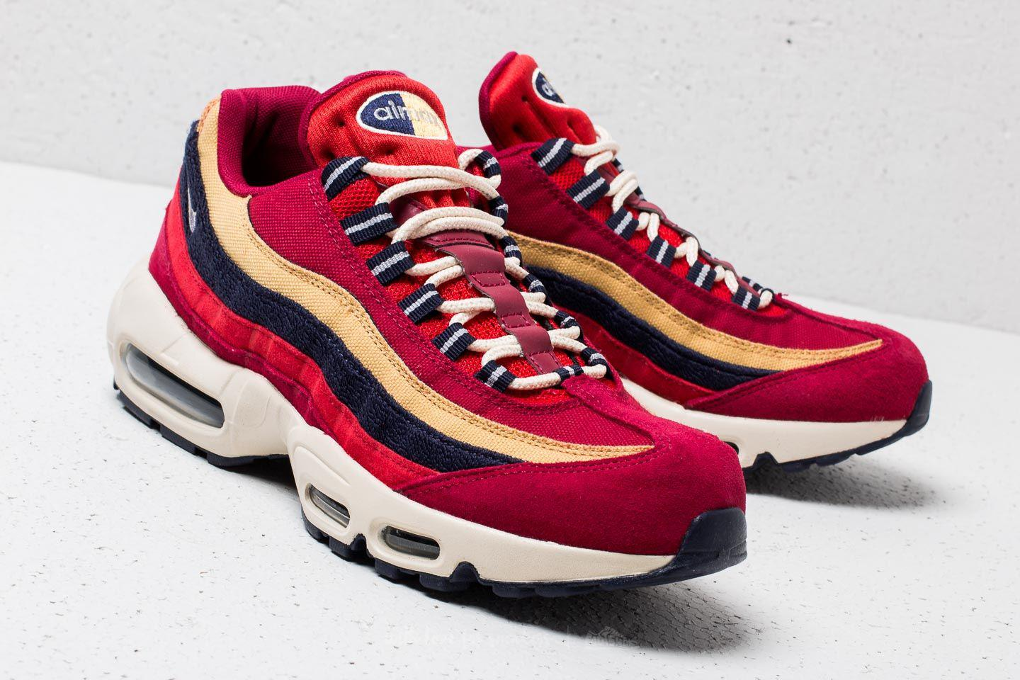 a1afc9d232b Nike Air Max 95 Premium Red Crush  Provence Purple in Red for Men - Lyst