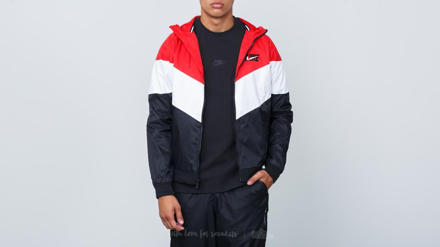 7629c92f75 Nike. Men s Sportswear Windrunner Hooded Track Jacket University Red   Summit White  Black