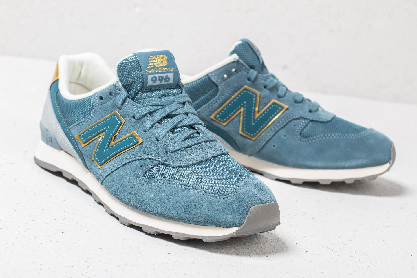 new balance blue gold