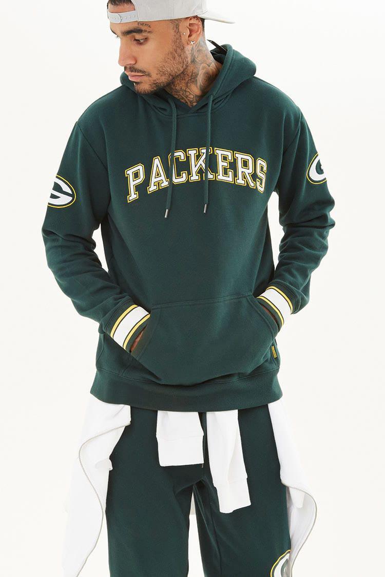best service f0d43 921f8 Forever 21 Green Nfl Packers Fleece Hoodie for men