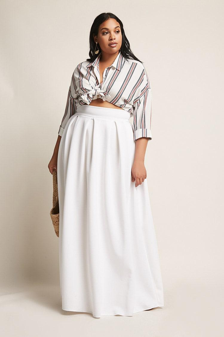 8dc1d8bbe Pleated Maxi Skirt Plus Size – DACC