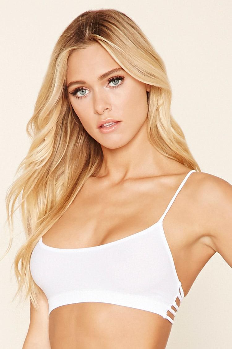 ae22fc2b79d Lyst - Forever 21 Seamless Caged-back Bralette