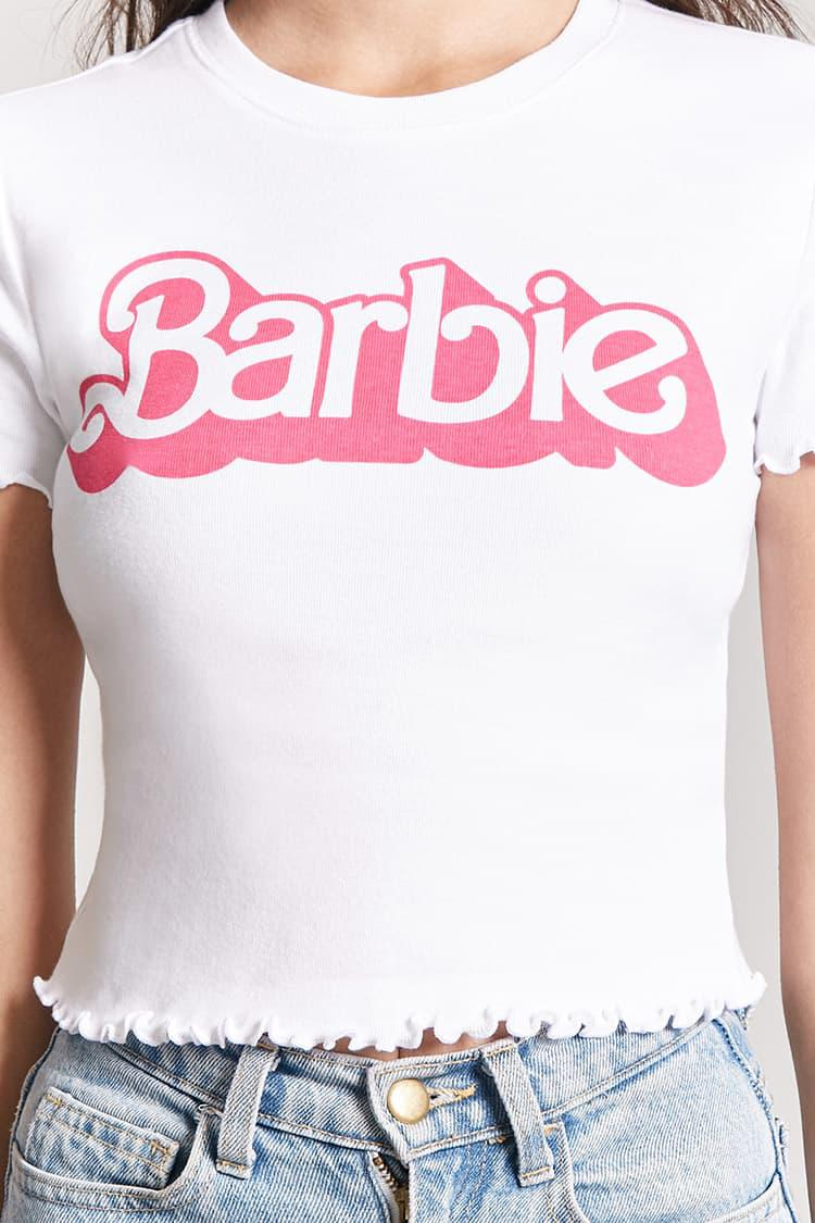 e68aedd8f Forever 21 Lettuce-edge Barbie Tee in White - Lyst