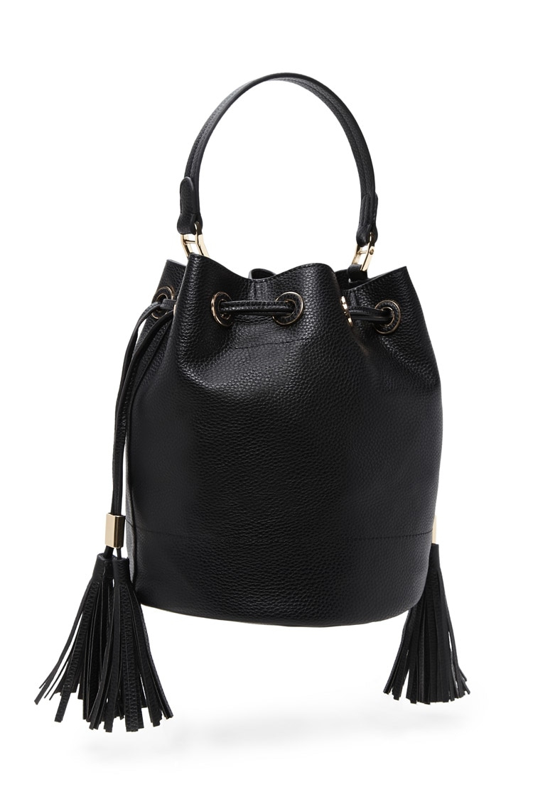 forever 21 handbags lyst forever 21 faux leather bag in black 30621