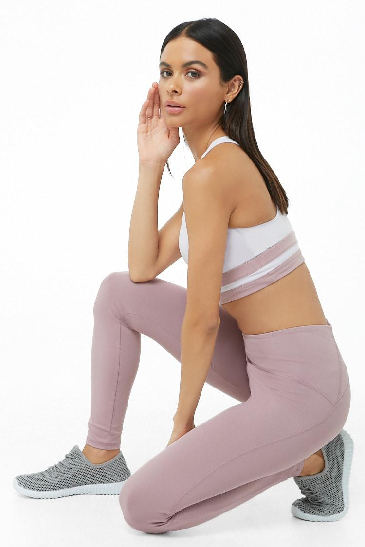 babff565c5 Forever 21 Women's Active Seamed Leggings in Purple - Lyst
