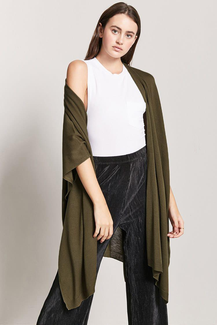 front light cardigan grey drapes open draped new arrival