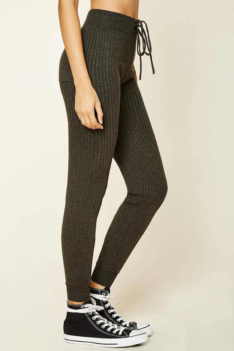 Forever 21 Ribbed Sweater Knit Leggings | Lyst