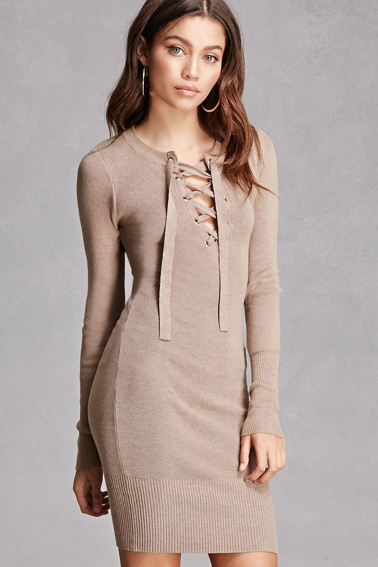 caa929cd93 Lyst - Forever 21 Hera Collection Lace-up Dress