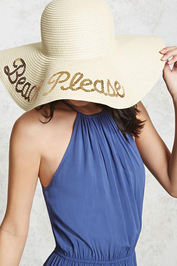 469fa936e Forever 21 Multicolor Beach Please Sun Hat