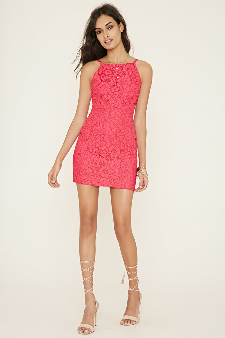 forever 21 floral lace sheath dress lyst