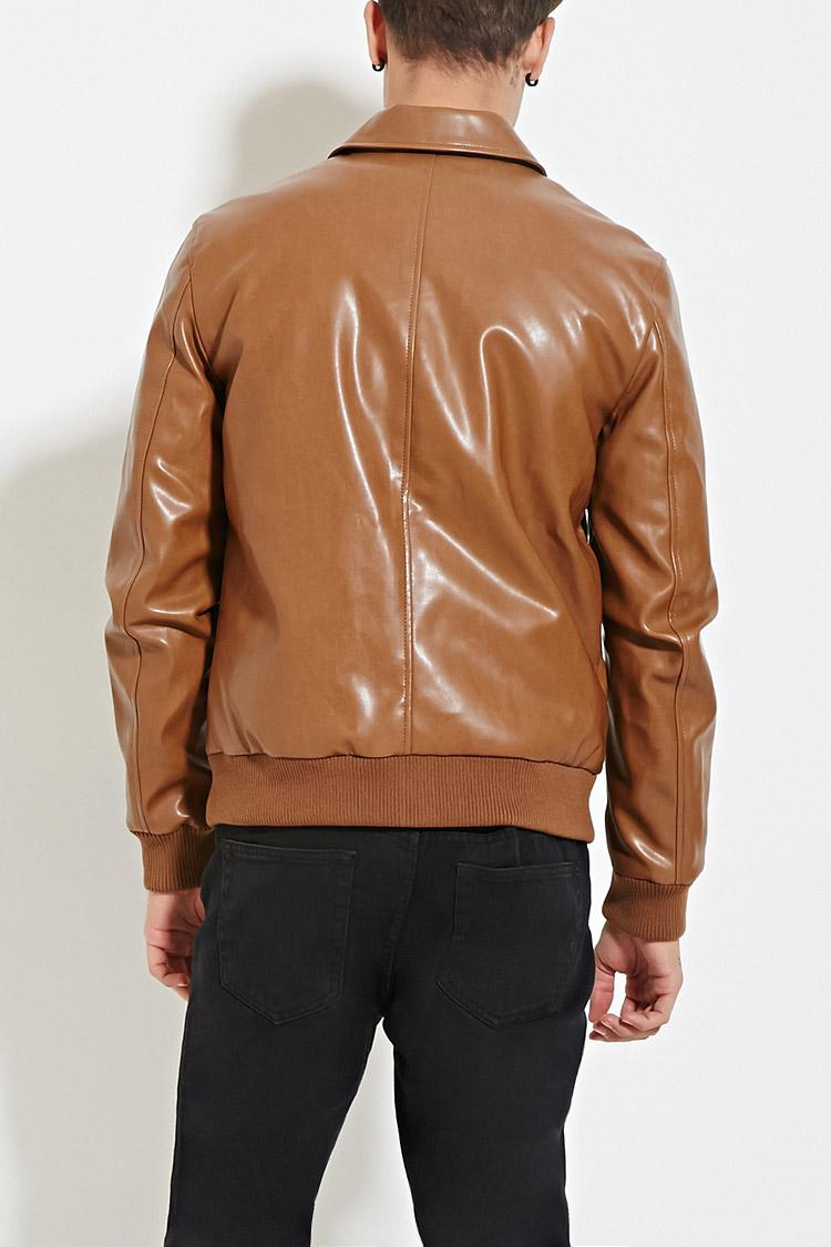Womens faux leather jacket with fur collar modest veromia online