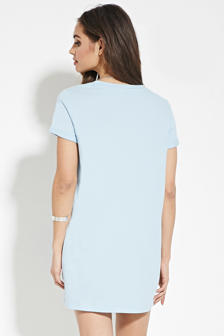 Light Blue T Shirt Dress - Dress Foto and Picture 035c2866bedd