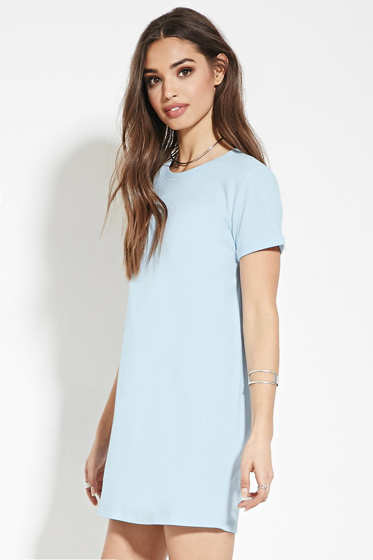 a9291bac5f Forever 21 Blue Cotton T-shirt Dress