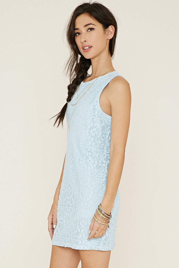 Lace shift dress forever 21