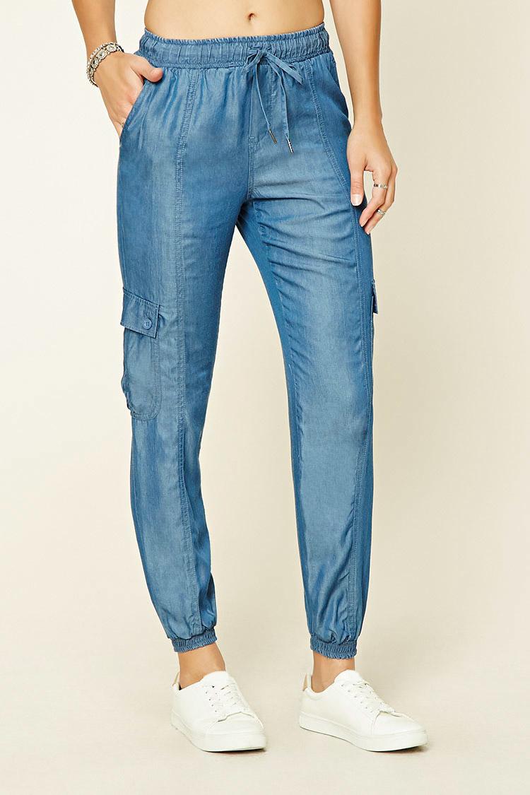 Wonderful Skinny Cotton Twill Cargo Pants