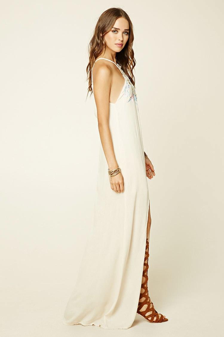 Forever 21 Selfie Leslie Maxi Dress In Natural Beige Lyst