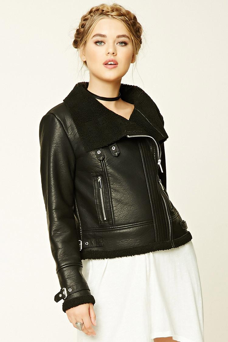 black moto jacket forever 21