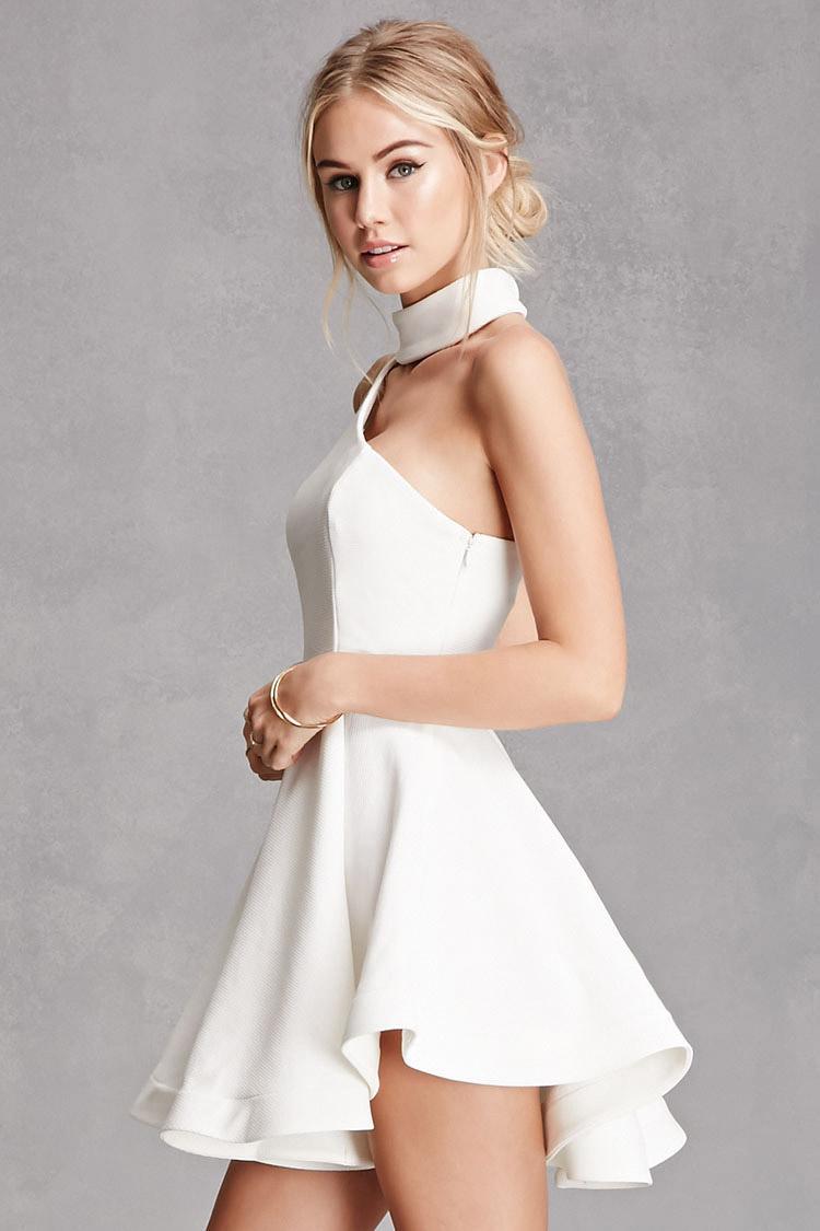 Lyst Forever 21 Selfie Leslie Flare Dress In White