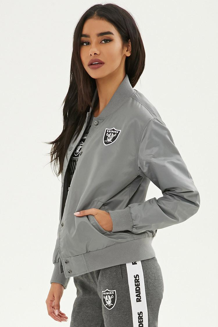 low priced d1bc3 86a37 Women's Nfl Raiders Bomber Jacket