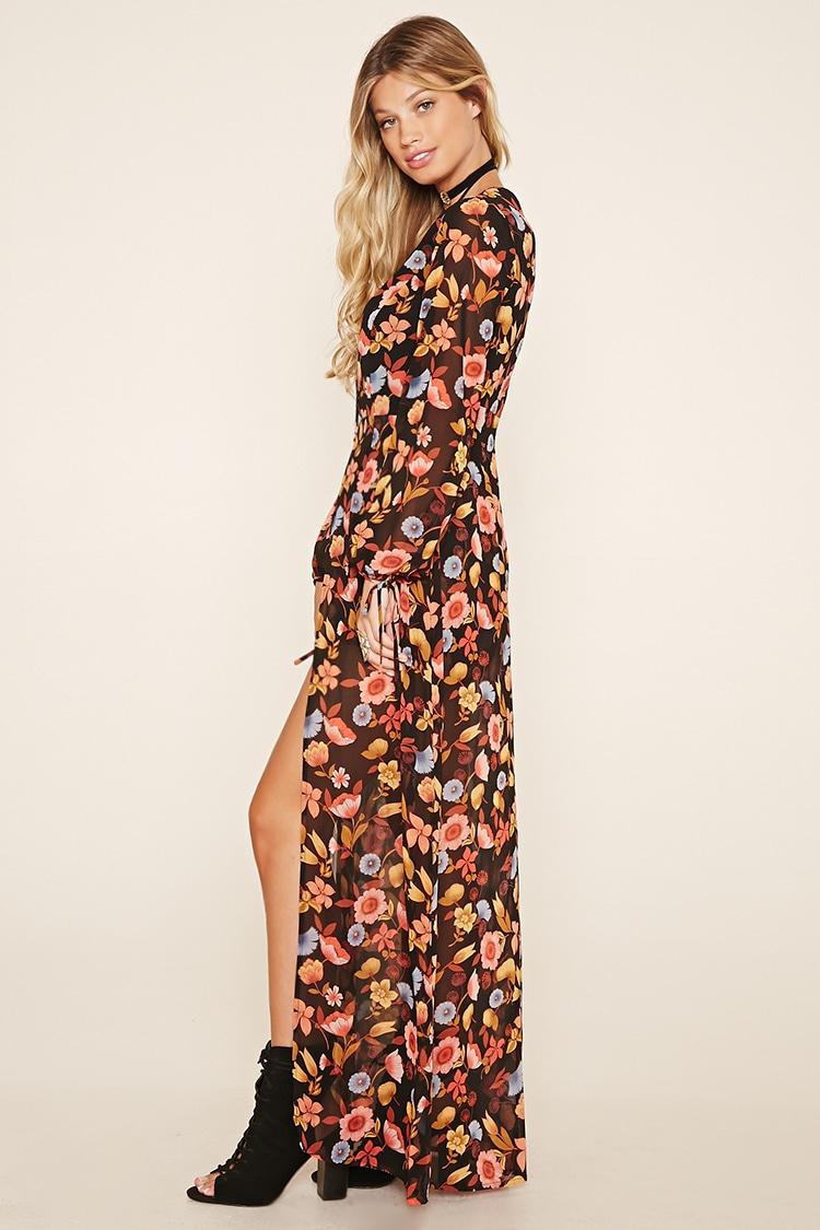 Forever 21 Floral Maxi Skirt Romper Lyst