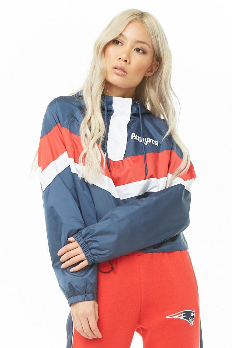 quality design 4c489 484c4 Forever 21 Blue Nfl Patriots Colorblock Pullover Windbreaker