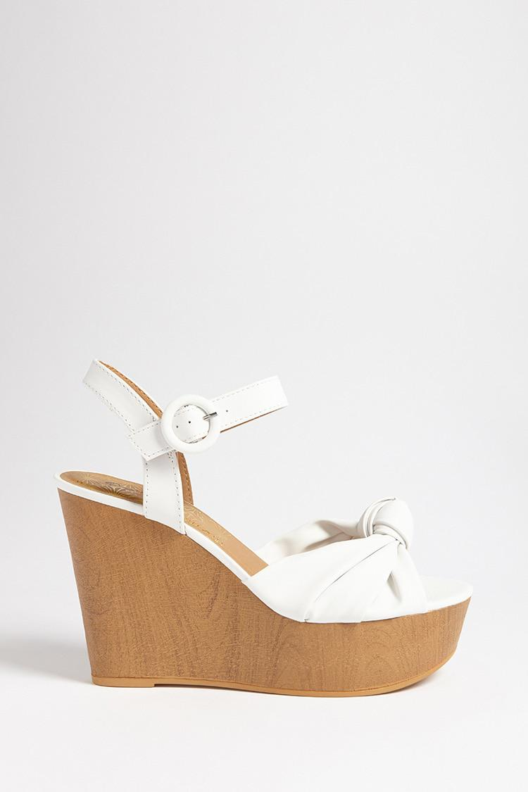 Qupid Knot-Front Wedges