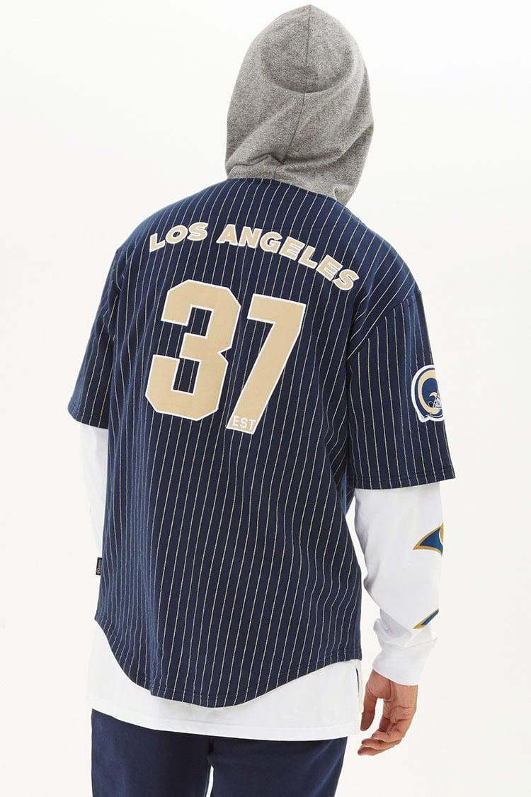 37b8c71f3 Lyst - Forever 21 Nfl Rams Hooded Fleece Shirt in Blue for Men