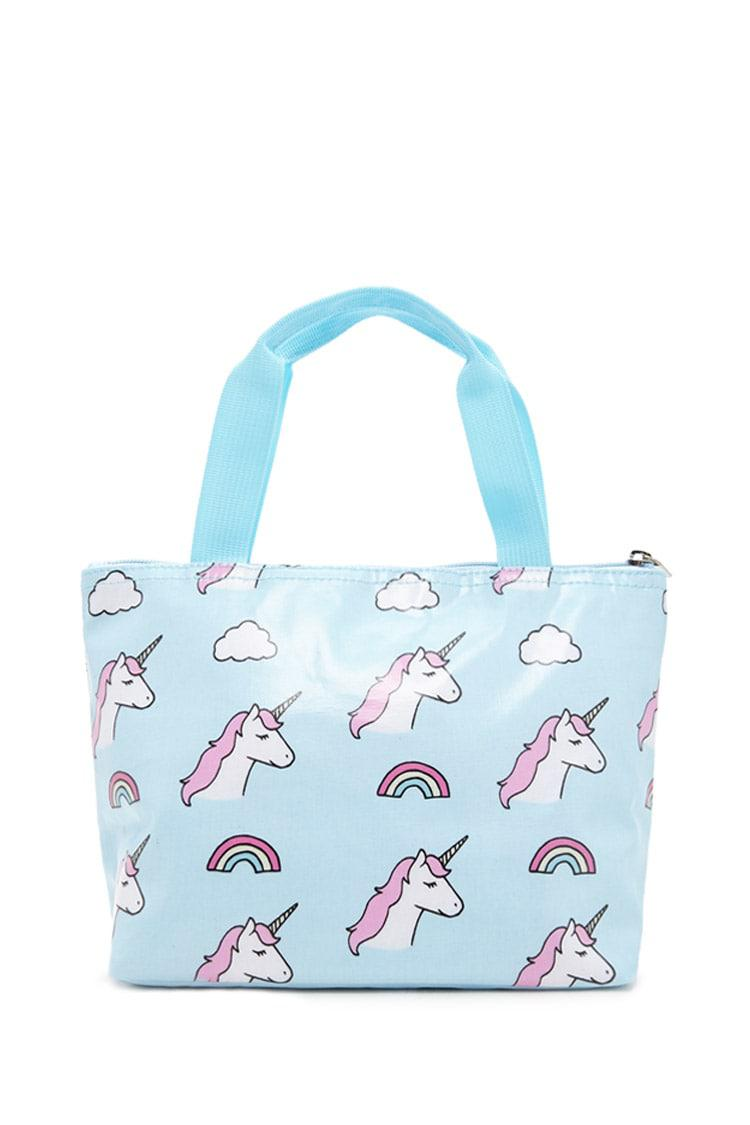 FOREVER21 Blue Unicorn Lunch Box