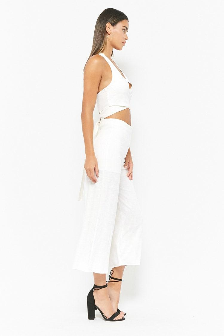 811faba5ce7170 Forever 21 Halter Crop Top & Culotte Pants Set in White - Lyst