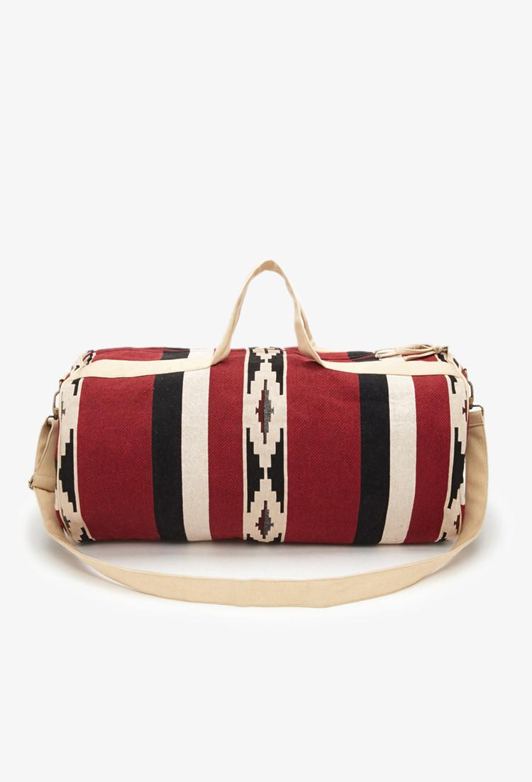 cbeb79e4090a Lyst - Forever 21 Southwestern-patterned Duffle Bag in Natural