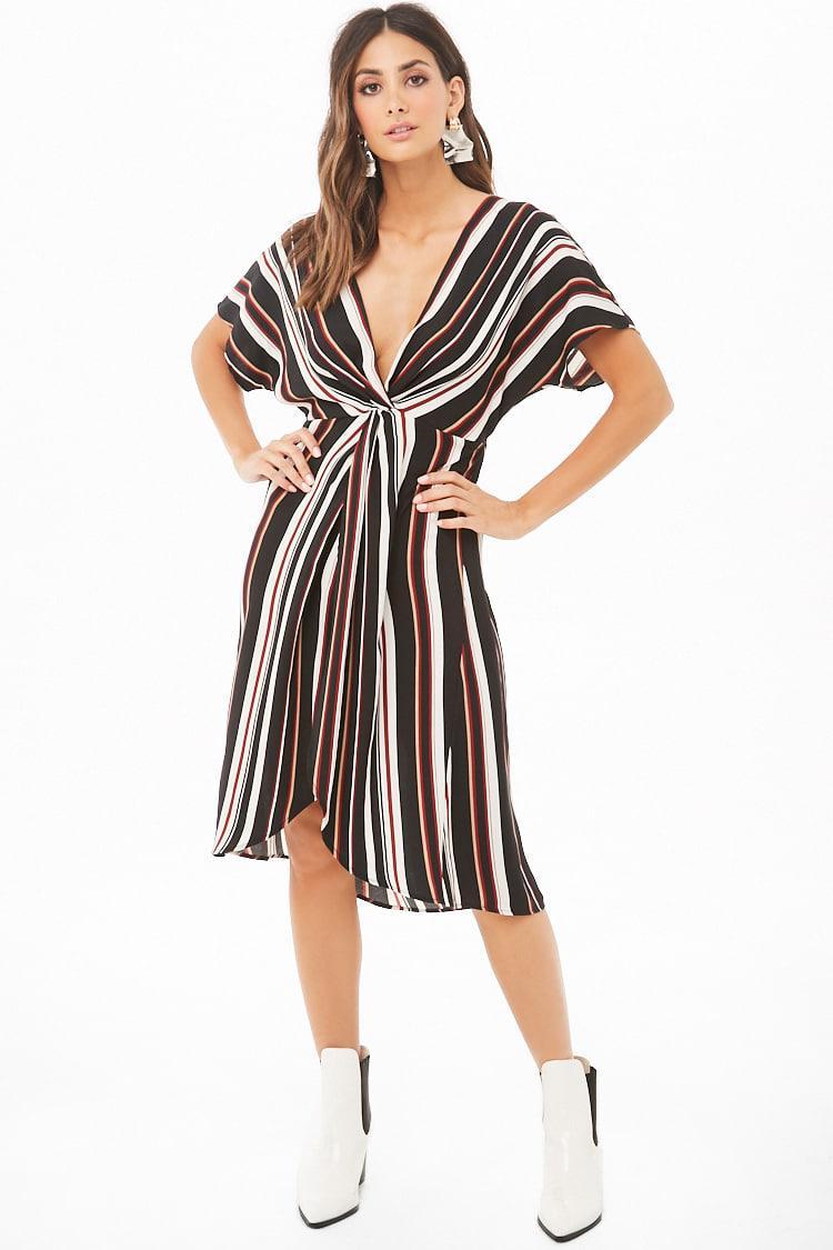 8eddfdddcfd Burgundy And Black Striped Dress - Gomes Weine AG