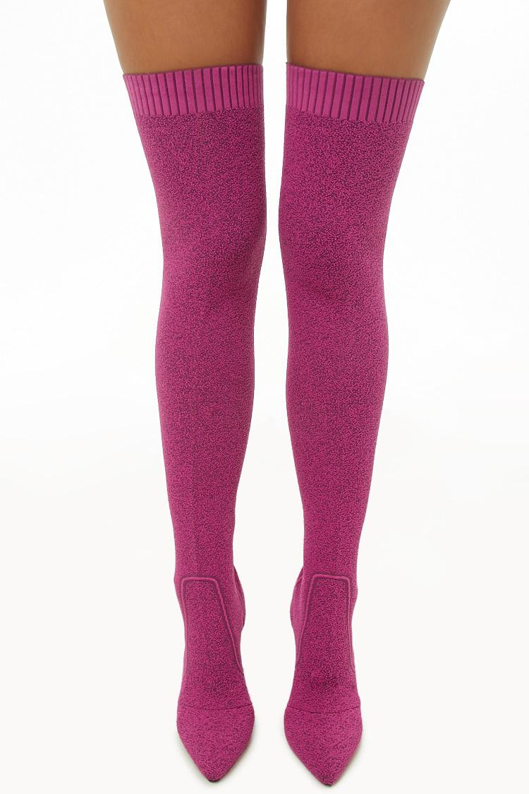 c92013143ae90 Forever 21 Lemon Drop By Privileged Thigh-high Sock Boots in Purple ...